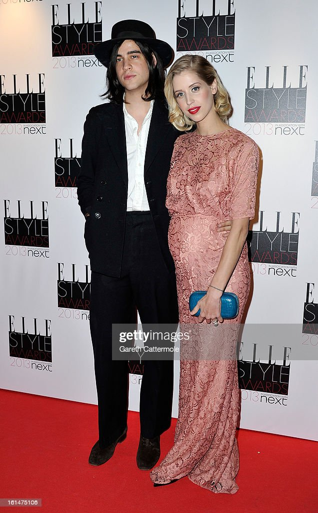 Thomas Cohen and <a gi-track='captionPersonalityLinkClicked' href=/galleries/search?phrase=Peaches+Geldof&family=editorial&specificpeople=211378 ng-click='$event.stopPropagation()'>Peaches Geldof</a> attend the Elle Style Awards at The Savoy Hotel on February 11, 2013 in London, England.