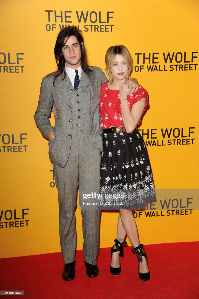 Thomas Cohen and <a gi-track='captionPersonalityLinkClicked' href=/galleries/search?phrase=Peaches+Geldof&family=editorial&specificpeople=211378 ng-click='$event.stopPropagation()'>Peaches Geldof</a> attend the UK Premiere of 'The Wolf Of Wall Street' at Odeon Leicester Square on January 9, 2014 in London, England.