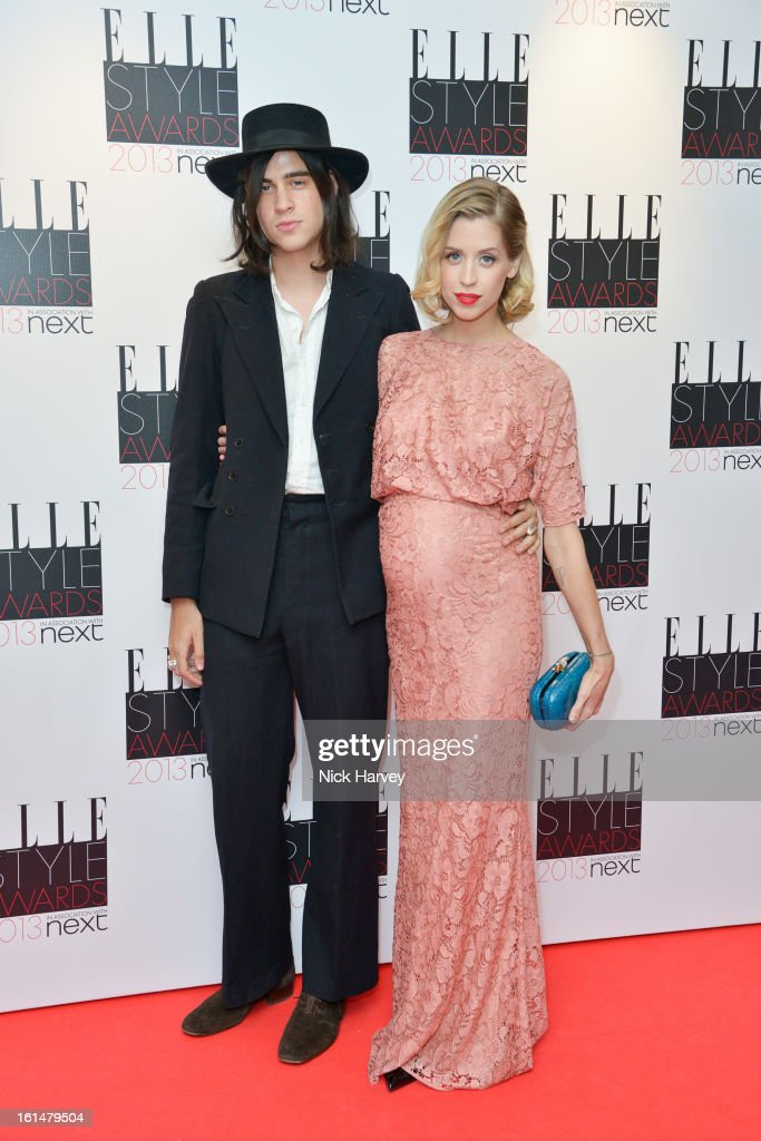 Thomas Cohen and <a gi-track='captionPersonalityLinkClicked' href=/galleries/search?phrase=Peaches+Geldof&family=editorial&specificpeople=211378 ng-click='$event.stopPropagation()'>Peaches Geldof</a> attends the Elle Style Awards 2013 on February 11, 2013 in London, England.
