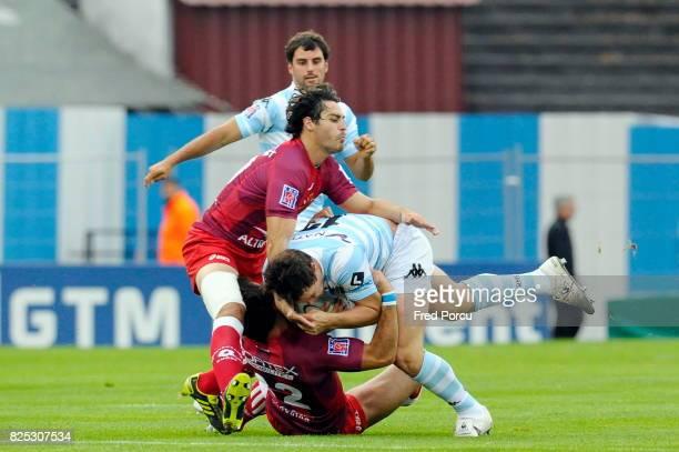 Thomas COMBEZOU / Henry CHAVANCY Racing Metro 92 / Montpellier 1ere Journee du Top 14 Stade Yves du Manoir Colombes