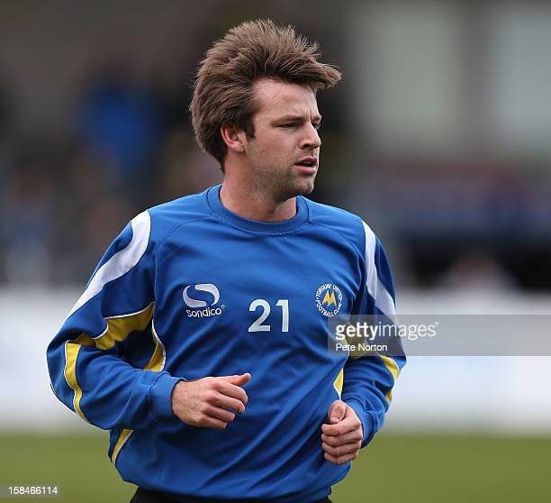 Thomas Cruise of Torquay United in action during the pre match warm up prior to the npower League Two match between Torquay United and Northampton...