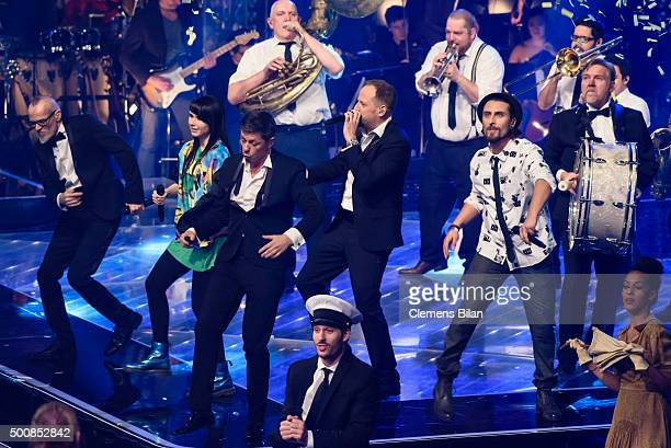 Thomas D JamieLee Kriewitz Michi Beck Smudo Tobias Vorwerk and AndYpsilon perform live on stage of the 'The Voice Of Germany Semi Final' on December...