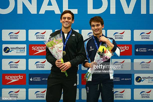 Thomas Daley of Dive London Aquatics Club and Daniel Goodfellow of Plymouth Diving pose for a photo after winning the Mens 10m Synchro during Day Two...