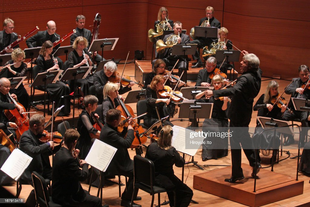 Thomas Dausgaard leading the Swedish Chamber Orchestra in Brahms's'Symphony No. 1 in C minor' at Alice Tully Hall on Thursday night, April 25, 2013.