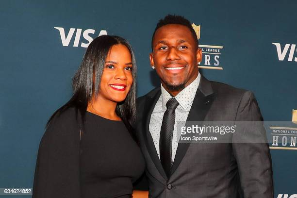 Thomas Davis and his wife on the Red Carpet at the 2017 NFL Honors on February 04 at the Wortham Theater Center in Houston Texas