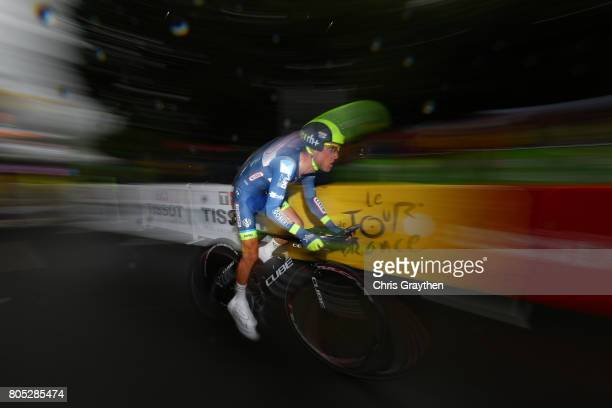 Thomas Degand of Belgium and Wanty – Groupe Gobert competes during stage one of Le Tour de France 2017 a 14km individual time trial on July 1 2017 in...