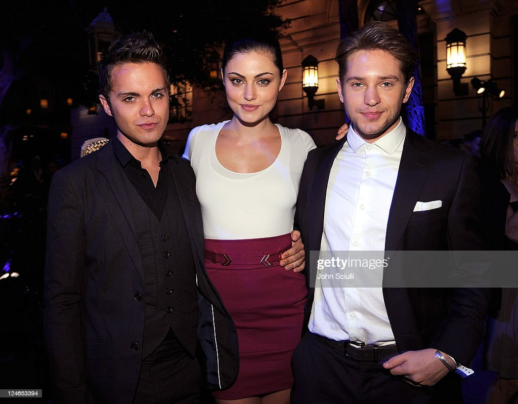 Thomas Dekker, Phobe Jane Tonkin and Louis Hunter attend the CW launch party presented by Bing at Warner Bros. Studios on September 10, 2011 in Burbank, California.
