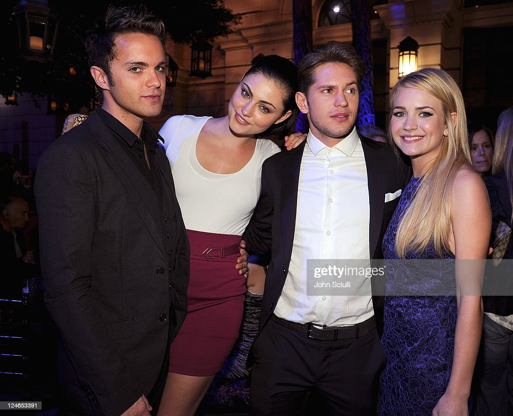Thomas Dekker, Phobe Jane Tonkin, Louis Hunter and <a gi-track='captionPersonalityLinkClicked' href=/galleries/search?phrase=Britt+Robertson&family=editorial&specificpeople=5445686 ng-click='$event.stopPropagation()'>Britt Robertson</a> attend the CW launch party presented by Bing at Warner Bros. Studios on September 10, 2011 in Burbank, California.