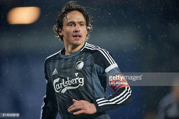 Thomas Delaney of FC Copenhagen looks on during the Danish Alka Superliga match between AGF Aarhus and FC Copenhagen at Ceres Park on March 6 2016 in...