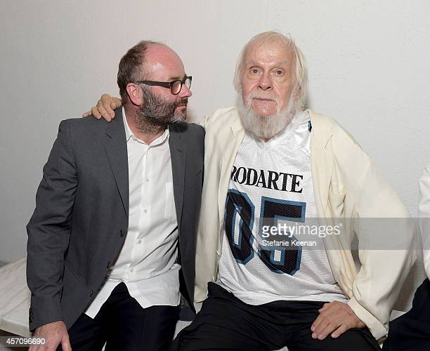 Thomas Demand and artist John Baldessari attends the Hammer Museum's 12th annual Gala in the Garden with generous support from Bottega Veneta at the...