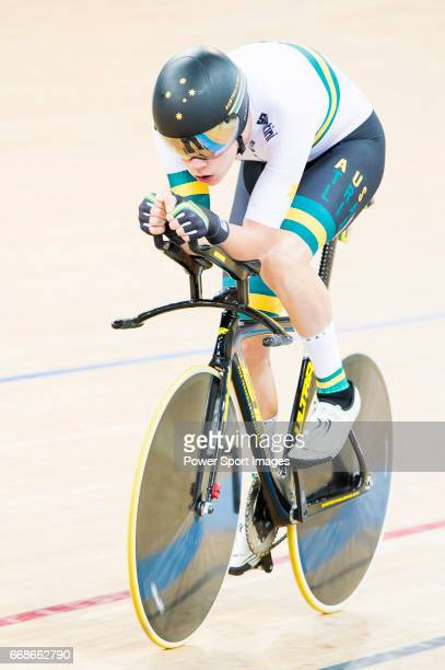 Thomas Denis of the France team competes in the Men's Individual Pursuit Qualifying during 2017 UCI World Cycling on April 14 2017 in Hong Kong Hong...