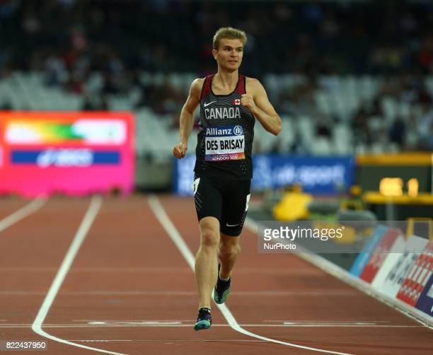 Thomas Des Brisay of Canada compete Men's 1500m T20 Final during World Para Athletics Championships Day Three at London Stadium in London on July 17...