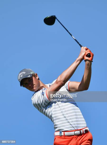 Thomas Detry of Belgium tees off during day three of The Rocco Forte Open at Verdura Golf and Spa Resort on May 20 2017 in Sciacca Italy