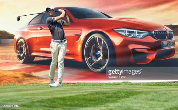 Thomas Detry of Belgium tees off on the 18th hole during the first round of the BMW International Open at Golfclub Munchen Eichenried on June 22 2017...