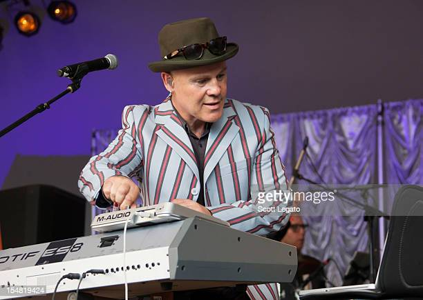 Thomas Dolby performs during the 2012 Voodoo Experience at City Park on October 26 2012 in New Orleans Louisiana