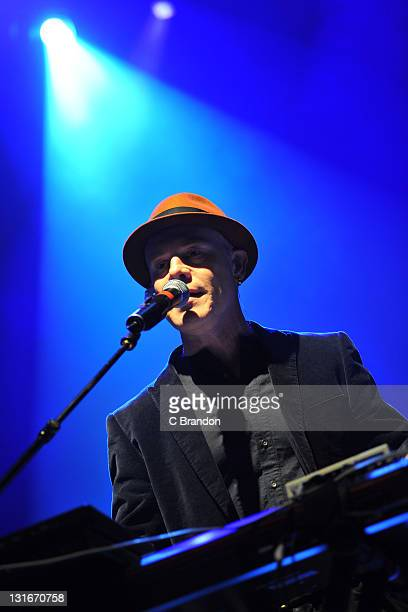 Thomas Dolby performs on stage at Shepherds Bush Empire on November 6 2011 in London United Kingdom
