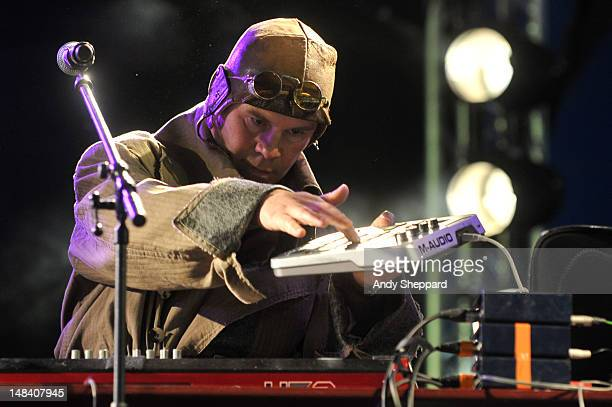 Thomas Dolby performs on stage during Latitude Festival 2012 at Henham Park Estate on July 15 2012 in Southwold United Kingdom