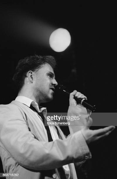 Thomas Dolby performs on stage London 1984