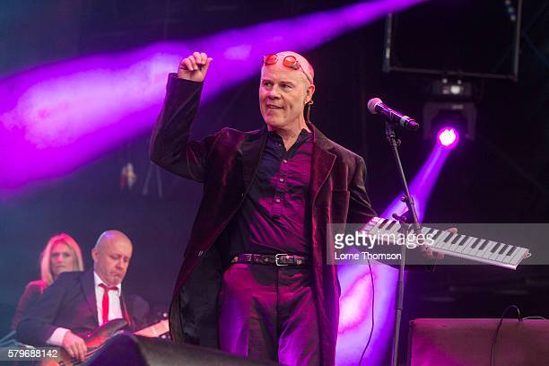 Thomas Dolby performs with the British Electric Foundation on day three of Rewind Scotland at Scone Palace on July 24 2016 in Perth Scotland