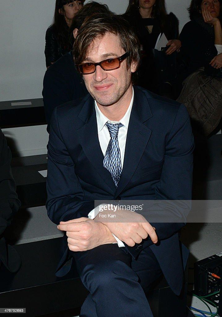 Thomas Dutronc attend the Agnes B show as part of the Paris Fashion Week Womenswear Fall/Winter 20142015 at Palais de Tokyo on March 4 2014 in Paris...