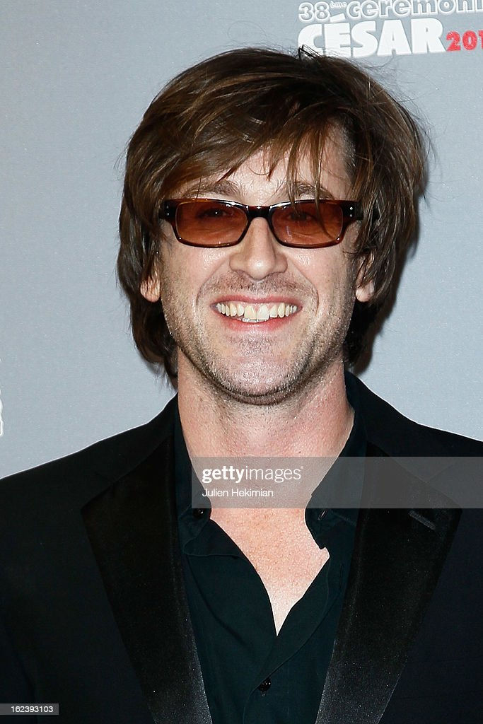 Thomas Dutronc attends the Cesar Film Awards 2013 at Theatre du Chatelet on February 22 2013 in Paris France