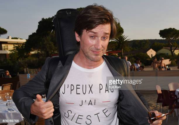 Thomas Dutronc attends the Fight Night Weighing Party at La Bouillabaisse Saint Tropez on August 3 2017 in SaintTropez France