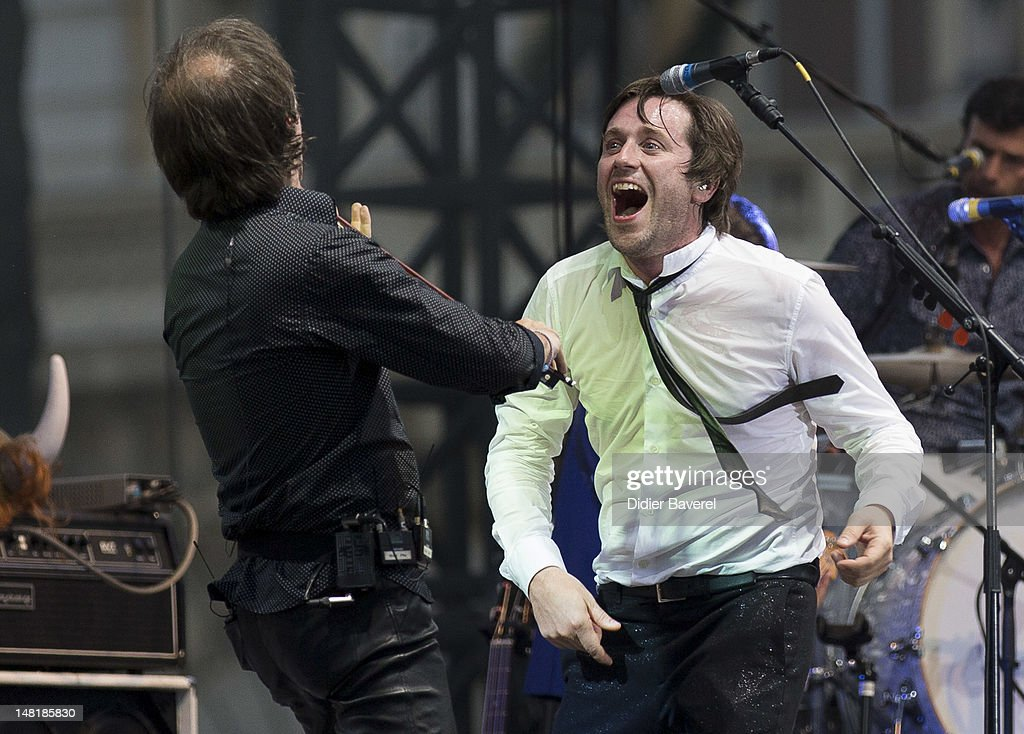 Thomas Dutronc performs on stage at Nice Jazz Festival on July 11 2012 in Nice France
