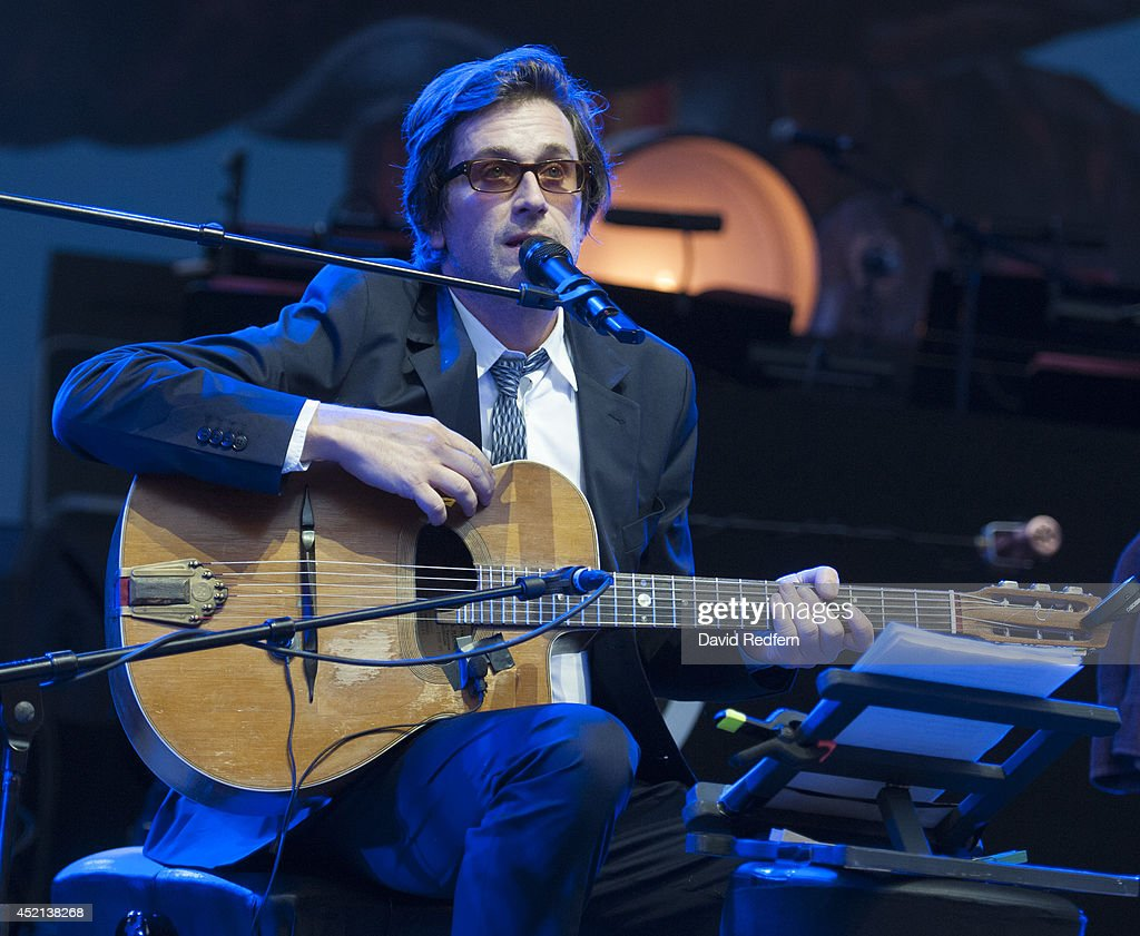 Thomas Dutronc performs on stage at Theatre Antique at Jazz A Vienne on July 7 2014 in Vienne France
