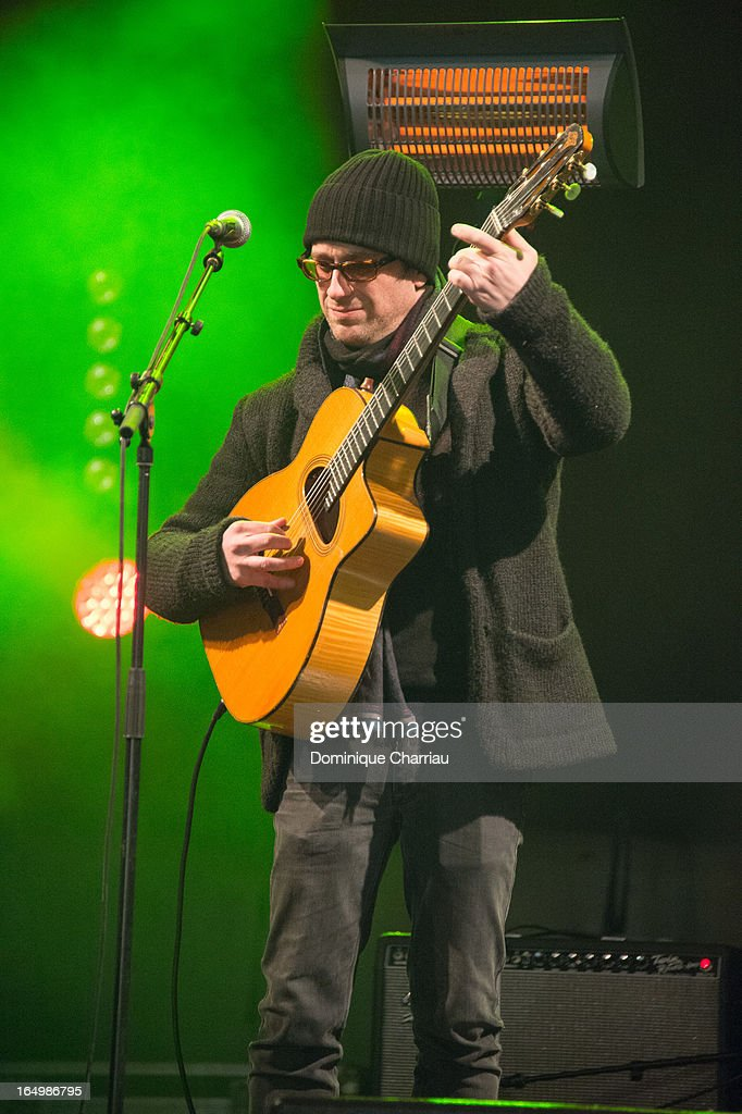Thomas Dutronc performs on stage during the 50th Foire du Trone Opening Night at Pelouse De Reuilly on March 29 2013 in Paris France
