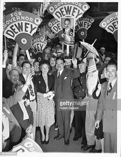 Thomas E Dewey attends the State Republican Convention during his campaign for the Governorship of New York
