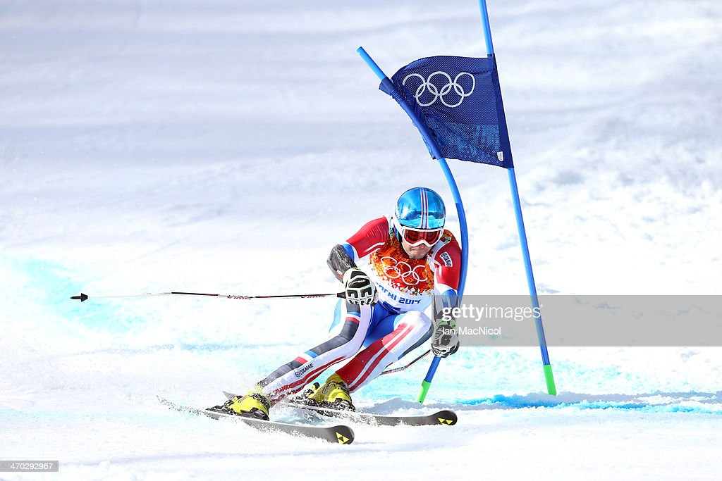 Thomas Fanara of France competes during round two of the Men's Giant Slalom on Day 12 of the Sochi 2014 Winter Olympics at Rosa Khutor Alpine Centre on February 19, 2014 in Sochi, Russia.