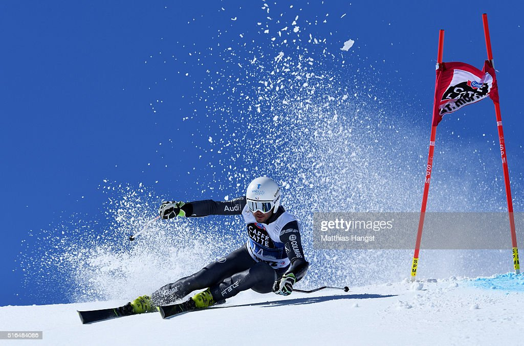 Thomas Fanara of France competes during the Audi FIS Alpine Ski World Cup Finals Men's Giant Slalom on March 19 2016 in St Moritz Switzerland