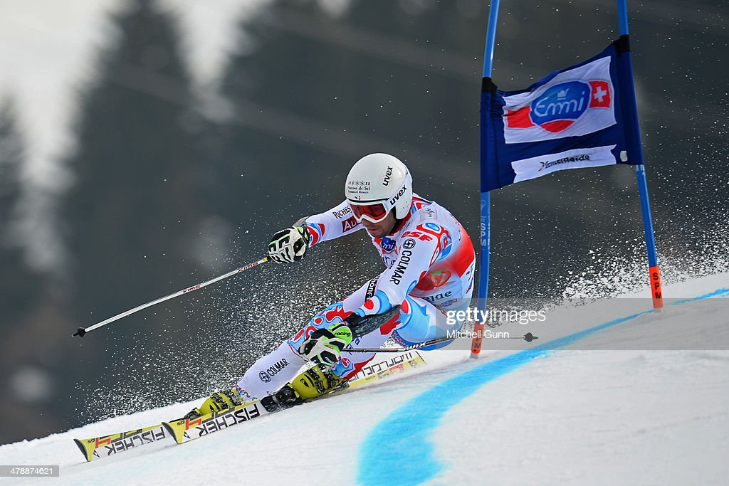 Thomas Fanara of France competes in the Audi FIS Alpine Skiing World Cup Finals Giant Slalom on March 15, 2014 in Lenzerheide, Switzerland.