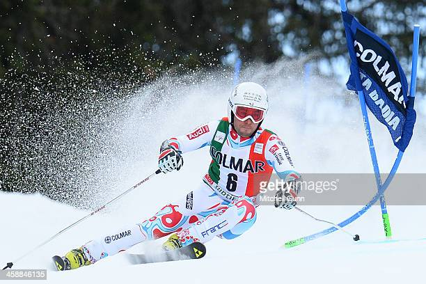 Thomas Fanara of France races down the course whilst competing in the FIS Alpine World Cup giant Slalom race on December 22 2013 in Alta Badia Italy