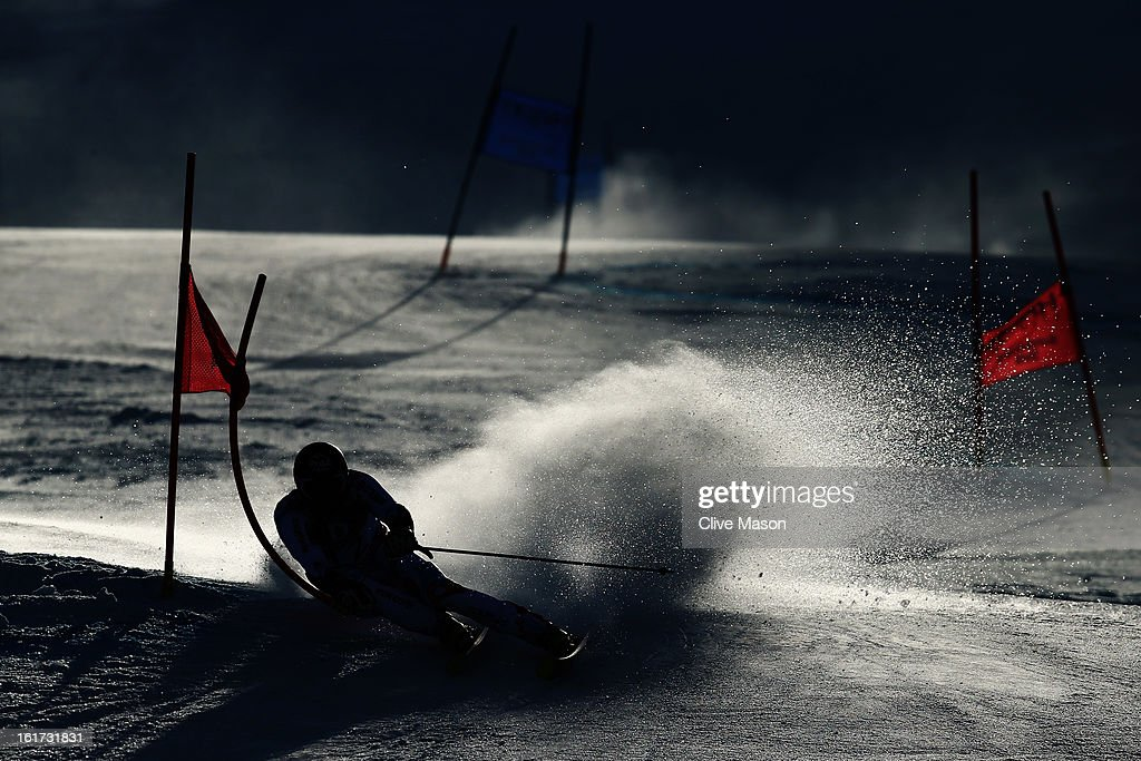 Thomas Fanara of France skis in the Men's Giant Slalom during the Alpine FIS Ski World Championships on February 15, 2013 in Schladming, Austria.
