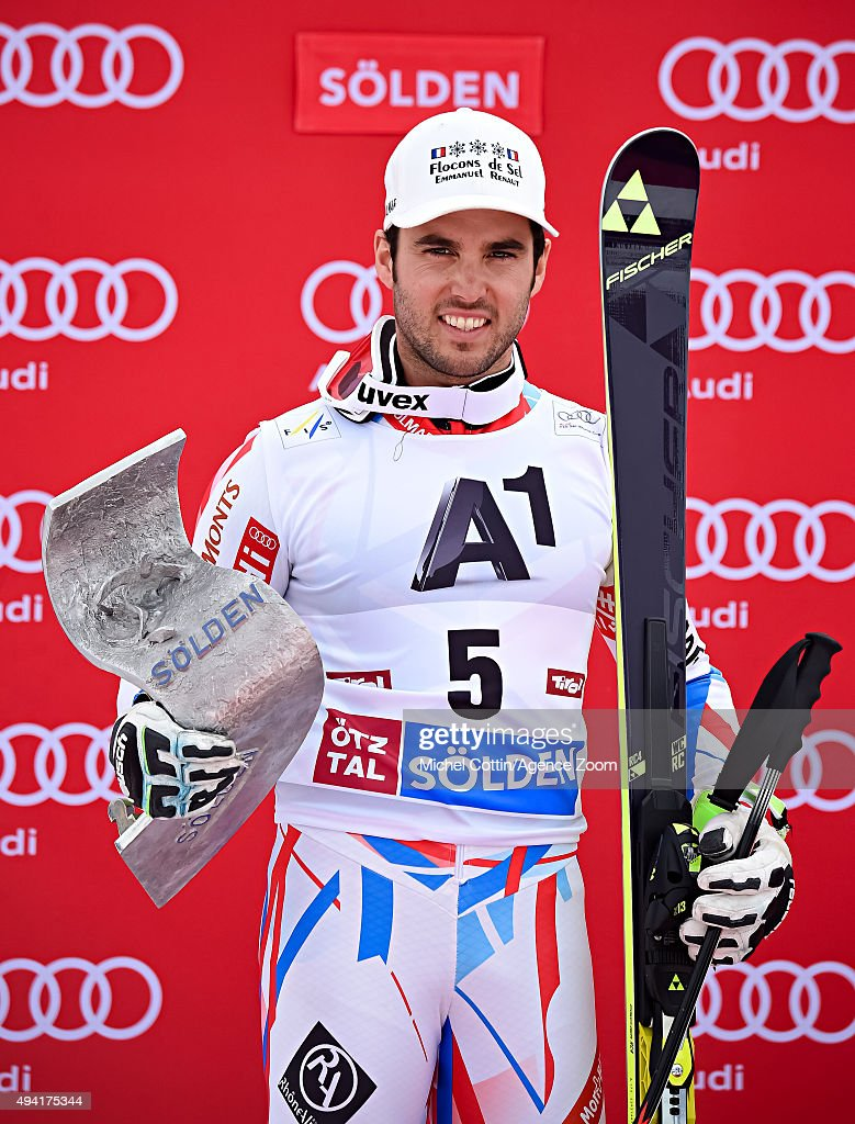 <a gi-track='captionPersonalityLinkClicked' href=/galleries/search?phrase=Thomas+Fanara&family=editorial&specificpeople=803965 ng-click='$event.stopPropagation()'>Thomas Fanara</a> of France takes 2nd place during the Audi FIS Alpine Ski World Cup Men's Giant Slalom on October 25, 2015 in Soelden, Austria.