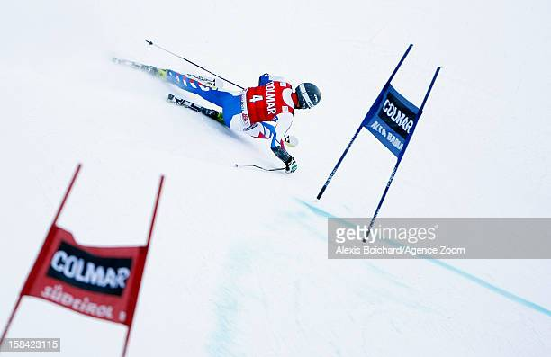 Thomas Fanara of France takes 3rd place during the Audi FIS Alpine Ski World Cup Men's Giant Slalom on December 16 2012 in Alta Badia Italy