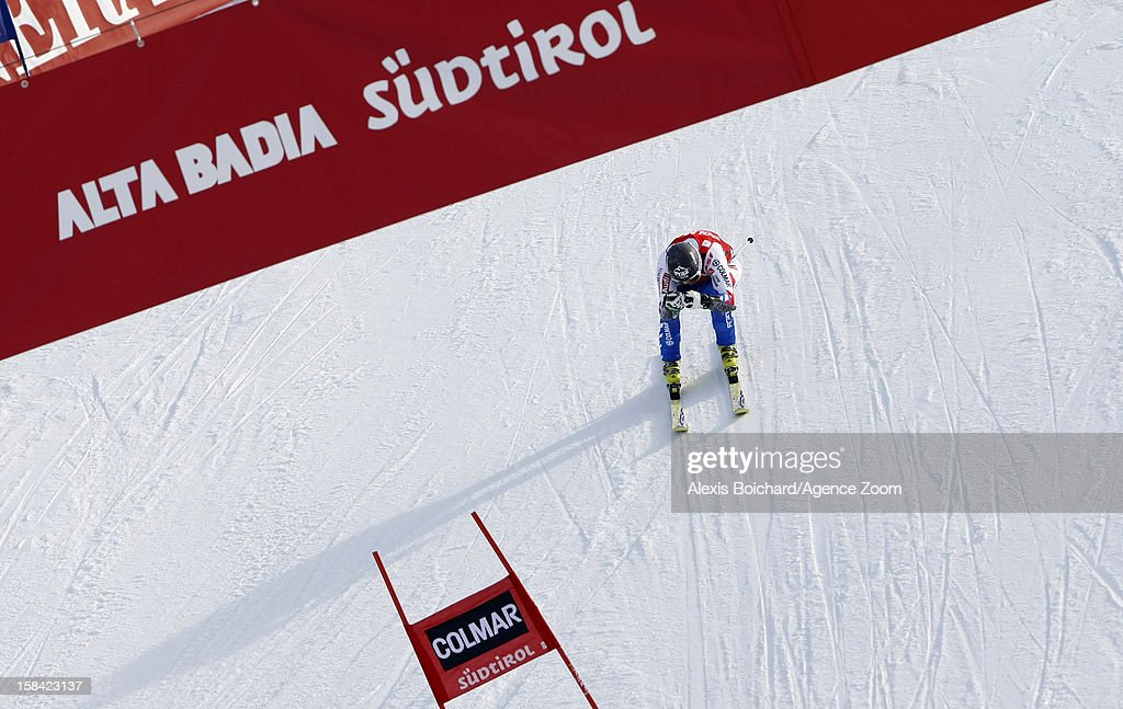 Thomas Fanara of France takes 3rd place during the Audi FIS Alpine Ski World Cup Men's Giant Slalom on December 16, 2012 in Alta Badia, Italy.