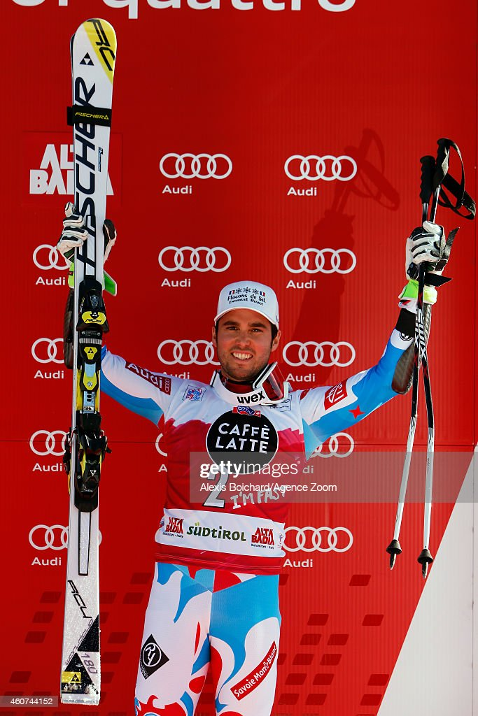 <a gi-track='captionPersonalityLinkClicked' href=/galleries/search?phrase=Thomas+Fanara&family=editorial&specificpeople=803965 ng-click='$event.stopPropagation()'>Thomas Fanara</a> of France takes 3rd place during the Audi FIS Alpine Ski World Cup Men's Giant Slalom on December 21, 2014 in Alta Badia, Italy.