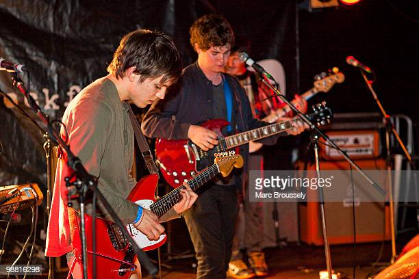 Thomas Fekete John Paul Pitts and Brian Black of Surfer Blood perform at the Underworld during day one of The Camden Crawl on May 1 2010 in London...