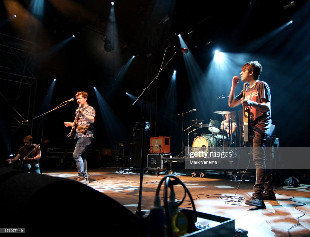 Thomas Fekete, John Paul Pitts and Kevin Williams of Surfer Blood perform on Day 1 of the Best Kept Secret Festival at Beekse Bergen on June 21, 2013 in Hilvarenbeek, Netherlands.