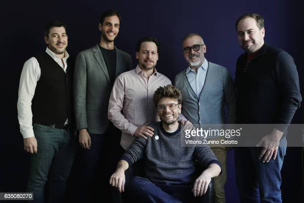 Thomas Fernandes Drew Xanthopoulos Jonny Mars Travis Mathews Joao Federici Neto Don Swaynos pose for a portrait session during the 67th Berlinale...