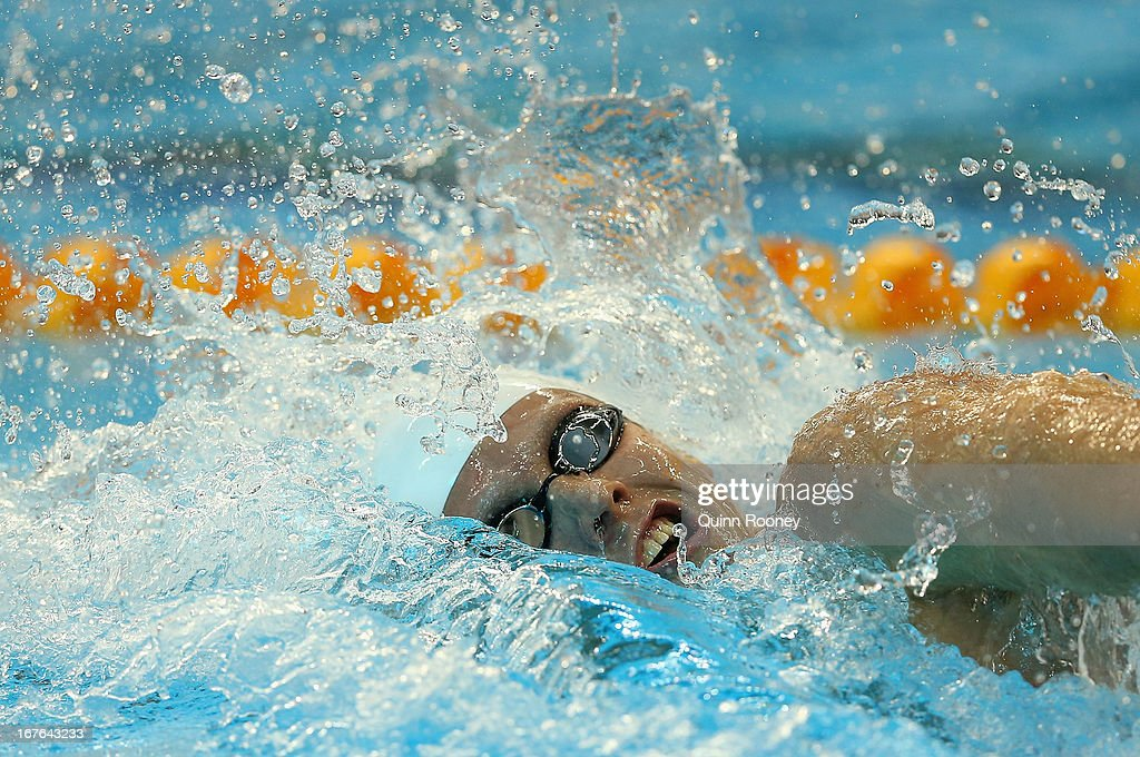 Thomas Fraser-Holmes of Australia competes in the Men's 200 Metre Freestyle during day two of the Australian Swimming Championships at SA Aquatic and Leisure Centre on April 27, 2013 in Adelaide, Australia.