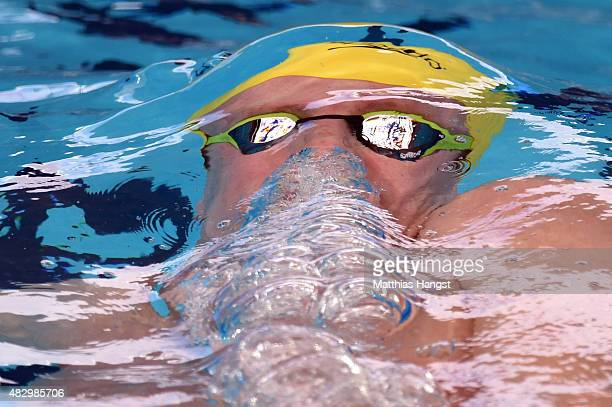Thomas FraserHolmes of Australia competes in the Men's 200m Individual Medley heats on day twelve of the 16th FINA World Championships at the Kazan...