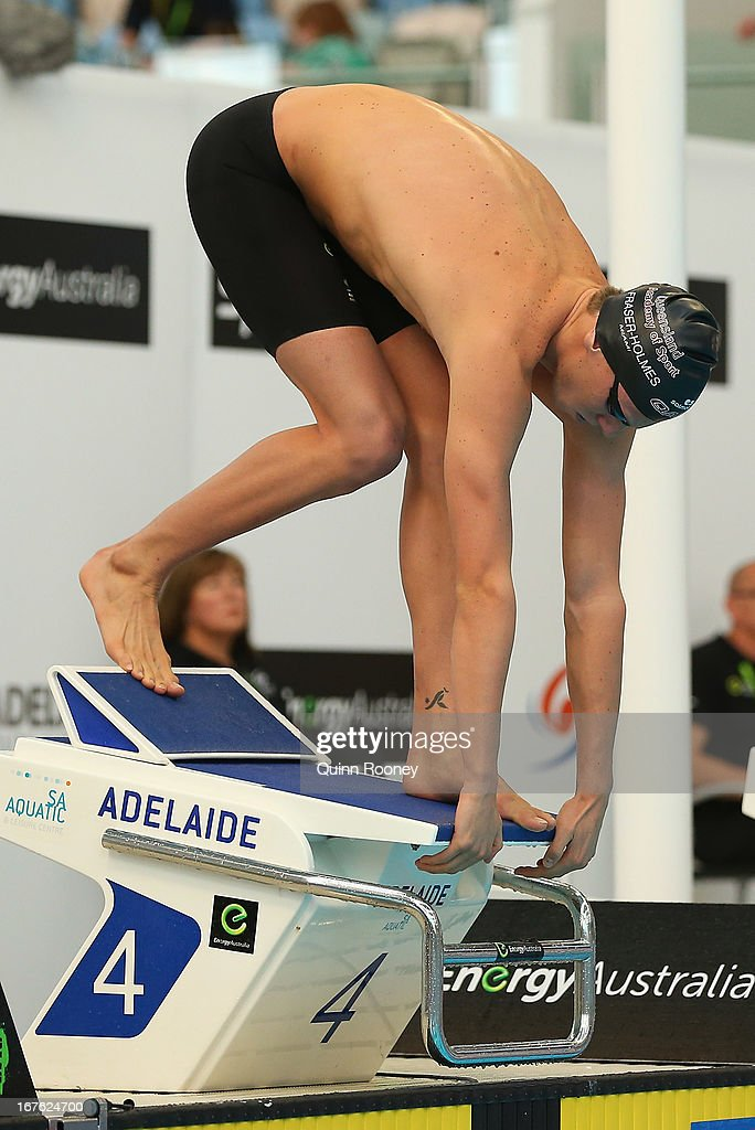Thomas Fraser-Holmes of Australia starts on the blocks in the Men's 200 Metre Freestyle Heats during day two of the Australian Swimming Championships at SA Aquatic and Leisure Centre on April 27, 2013 in Adelaide, Australia.