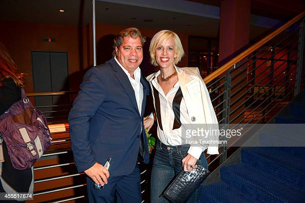 Thomas Friedl and Katja Eichinger attend the First Steps Award 2014 at Stage Theater on September 15 2014 in Berlin Germany