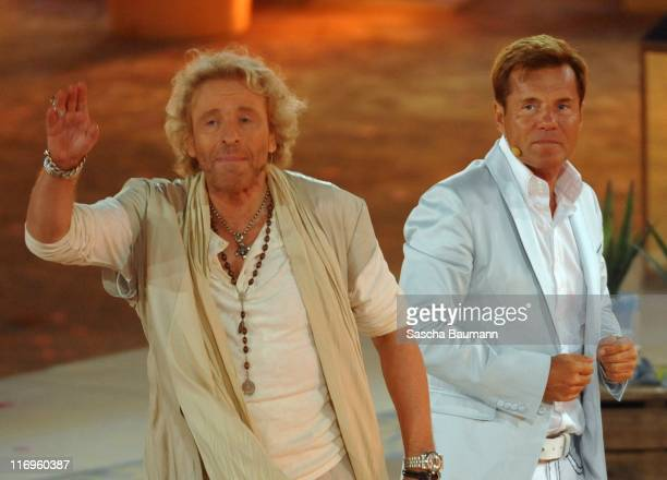 Thomas Gottschalk and Dieter Bohlen attend the 'Wetten dass' Summer Edition on June 18 2011 in Palma de Mallorca Spain