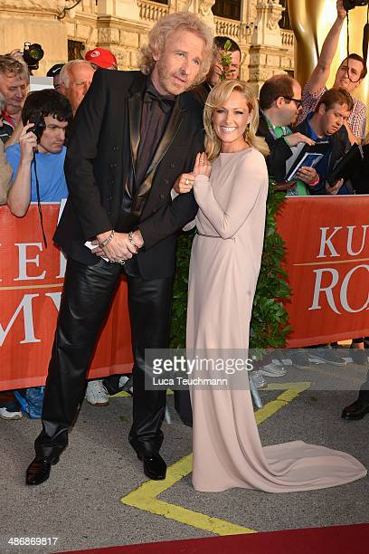 Thomas Gottschalk and Helene Fischer attend the Romy Award 2014 at Hofburg Vienna on April 26 2014 in Vienna Austria