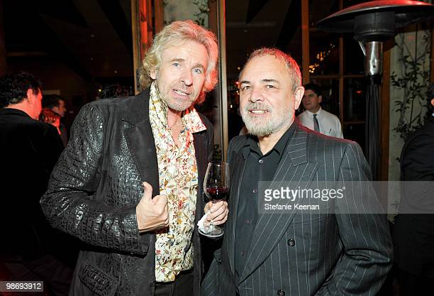 Thomas Gottschalk and Ulli Edel attendGiorgio Moroder's Surprise Birthday Party at Spago on April 26 2010 in Beverly Hills California