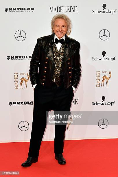 Thomas Gottschalk arrives at the Bambi Awards 2016 at Stage Theater on November 17 2016 in Berlin Germany
